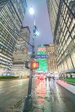 Night view of Park Avenue and Helmsley Building in New York City - 238689604