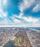 Aerial view of Central Park and New York City from helicopter - 238689633