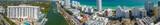MIAMI BEACH - FEBRUARY 24, 2016: Amazing panoramic aerial view of city skyline. South Beach is a popular tourist destination - 238691458