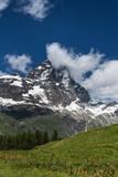 Matterhorn summit in Alps, Italy side.