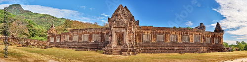 View on the North palace of the Vat Phou temple complex UNESCO World Heritage Site at sunrise time - 238715285
