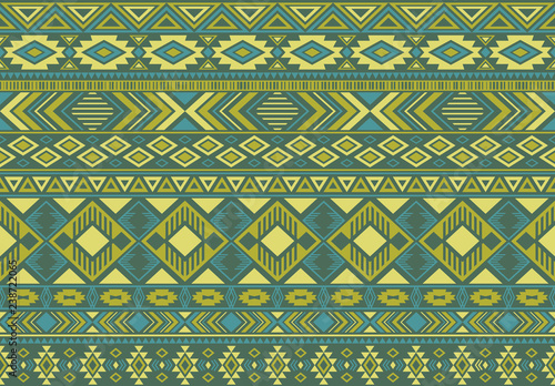 Indian pattern tribal ethnic motifs geometric seamless vector background. Fashionable boho tribal motifs clothing fabric textile print traditional design with triangle and rhombus shapes.