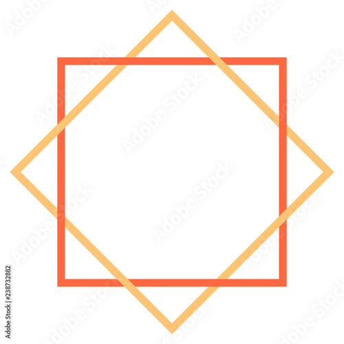 Abstract geometric element created using square shapes. Graphic element saved as a vector illustration for design