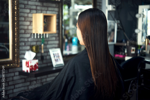 Beautiful Women's haircut. hairdresser, beauty salon