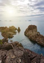 "Постер, картина, фотообои ""Beautiful rocky coast in Thailand. Vacation concept."""