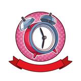 Clock alarm bells pop art cartoon
