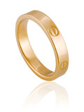 original female ring of gold. A precious gift for a woman.