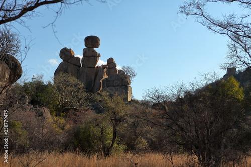Die Savannen und Landschaften in Simbabwe