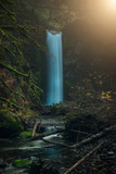 Waterfall in Oregon's Columbia River Gorge post Eagle Creek Fire