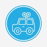 Car toy vector icon sign symbol