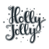 Holly Jolly quote with stars and snowflakes