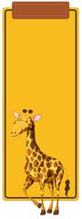 Giraffe on yellow border © blueringmedia