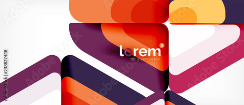 Abstract background multicolored geometric shapes modern design - 238827448