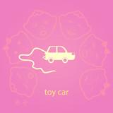 Toy Car Icon Vector.