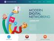 digital networking website landing page
