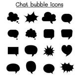 Chat balloon, speech bubble, talking, speaking icon set