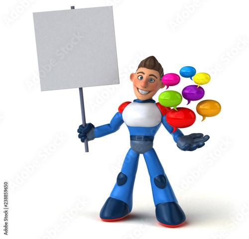 Super modern superhero - 3D Illustration - 238859650