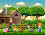 Farming activities on farms with animals