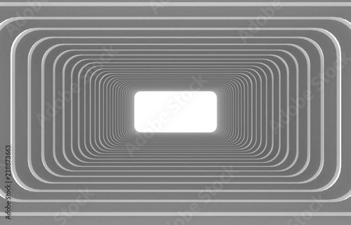 Abstract architecture tunnel background.3d illustration
