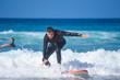 Beginning to surf