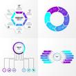 Business Set Infographics Elements Template Design Vector Editable