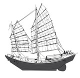 Old chinese junk - 238890099