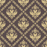Orient vector classic pattern. Seamless abstract background with vintage elements. Orient background. Ornament for wallpaper and packaging - 238890605