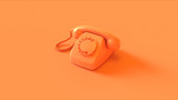 Orange Telephone 3d illustration 3d render