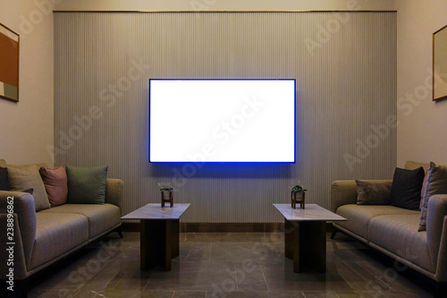 Phenomenal Luxury Modern Living Room With Furniture Blank Screen Tv Pabps2019 Chair Design Images Pabps2019Com