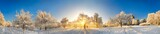 Panorama von zauberhafter Winterlandschaft © Smileus