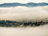Italia, Firenze, la città con la nebbia. © gimsan