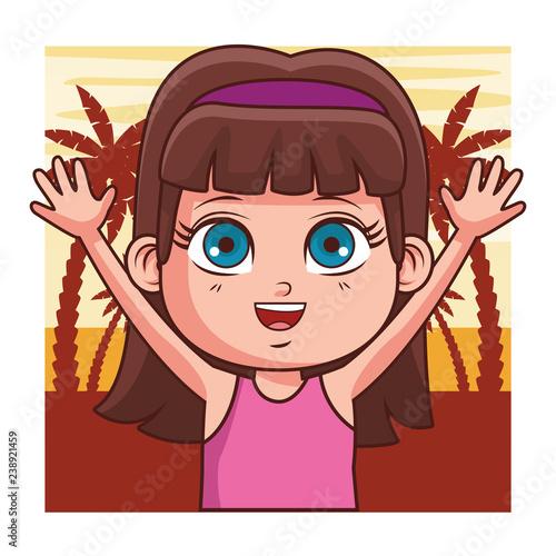 girl summer cartoon