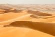 Leinwanddruck Bild - waves from sand dunes in desert in Morocco