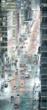 City traffic at night, aerial view of main avenue, New York City - 238933446