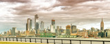 Hudson Yards skyscrapers and Manhattan skyline in New York City as seen from Jersey City - 238933471