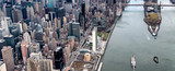 Roosevelt Island and Bridges as seen from the helicopter in New York City - 238933489