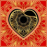 Template for Happy Valentines Day. Vector Illustration. For Greeting Card, Invitation Or Posters.