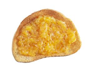 Fried bread with tangerine jam