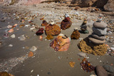 Beautiful and rare natural colors of Firiplaka beach, Milos, Greece - 238948001