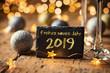 Leinwanddruck Bild - Frohes neues Jahr 2019
