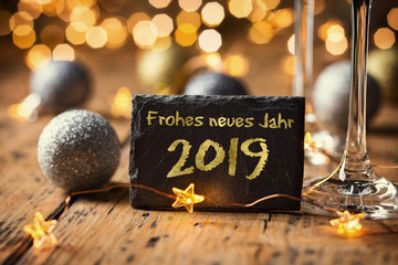 Frohes neues Jahr 2019 © Floydine