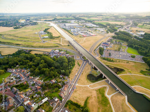 Pont du Dart Aqueduct and channel in Begium | Buy Photos | AP Images