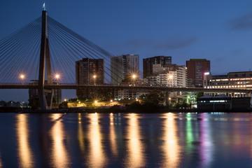 Sydney's ANZAC Bridge and apartment blocks © Tim