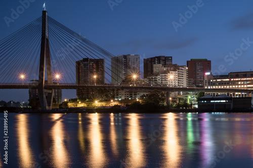 Obraz na płótnie Sydney's ANZAC Bridge and apartment blocks
