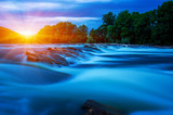 River water and sun © Alekss