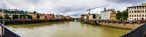 panorama of the bridge in Florence-Italy - 239020864