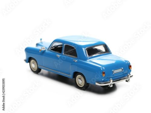Fridge magnet Vintage classic old car isolated on white, model