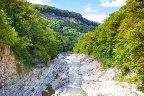 Foto Murales river in the mountains