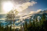 Austria Mountains . Winter. Skiing resorts