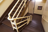 staircase for emergency exit inside the hotel